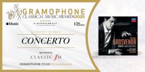BENJAMIN GROSVENOR – Mejor grabación Orquestal – Gramophone